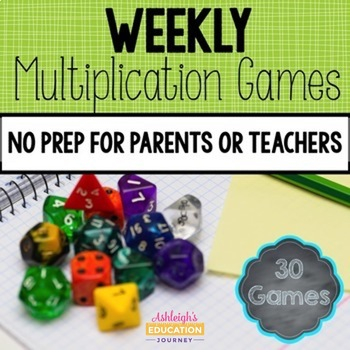 Weekly Multiplication Games - Perfect for Homework or Centers