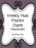 Weekly Music Practice Charts