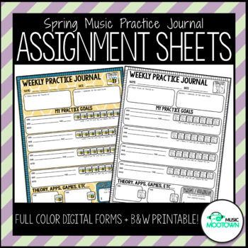 Weekly Music Practice Journals: Spring Edition