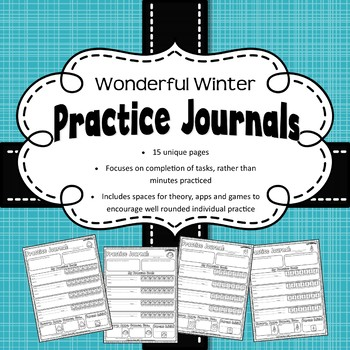 Weekly Music Practice Journals: Winter Edition