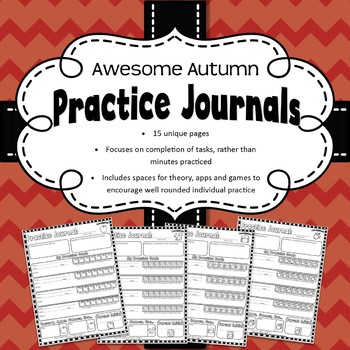 Weekly Music Practice Journals: Autumn Edition