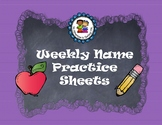 Weekly Name Practice Sheet
