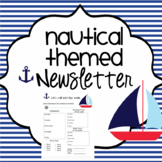 Weekly EDITABLE Nautical Sailing Away Newletter