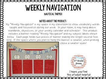 Weekly Navigation Banner { Nautical }