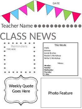 Weekly News Template