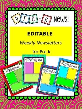 Weekly Newsletter Pre-K