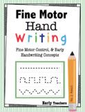 Fine Motor Handwriting Practice