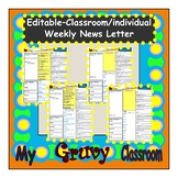 FREEBIE - Editable - Weekly News Letter - Class / Individual -