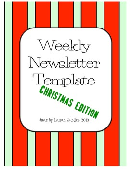 Weekly Newsletter- Christmas Edition