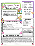 Weekly Newsletter Cover Sheet Template - April