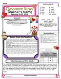 Weekly Newsletter Cover Sheet Template - February