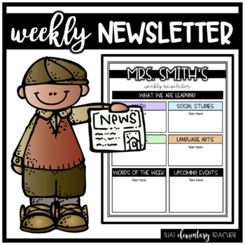 Weekly Newsletter - EDITABLE