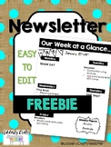 Weekly Newsletter | FREEBIE