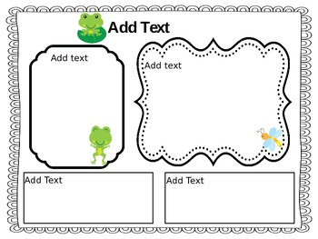 Weekly Newsletter - Frog Themed -Editable