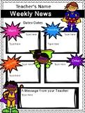 Weekly Newsletter Superhero Version! {Editable}