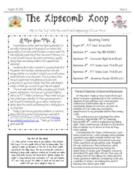 Weekly Newsletter - TEMPLATE