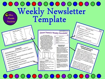 Weekly Newsletter Template (Editable!)