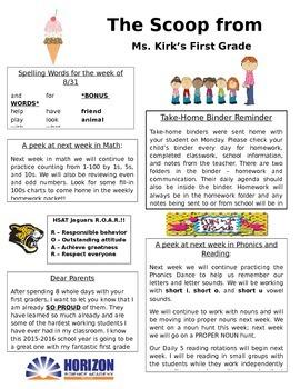 Weekly Newsletter Template FREEBIE