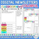 Digital Weekly Newsletter Template Editable COLORFUL