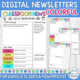 Digital Weekly Newsletter Template Editable COLORFUL