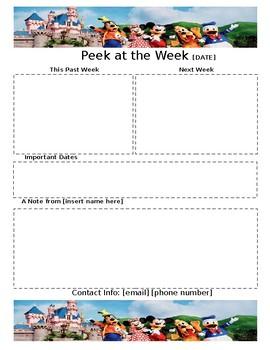 Weekly Newsletter Template DISNEY