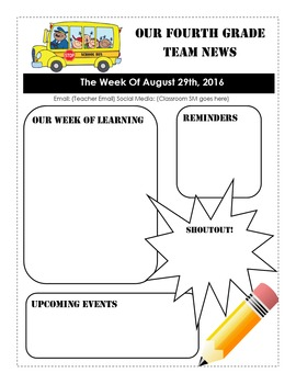 Weekly Newsletter Template DOWNLOADABLE AND EDITABLE - Microsoft Publisher