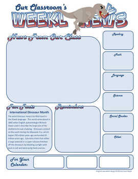 Weekly Newsletter Template : September and October