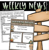 Weekly Newsletter Template Editable Camping Camp Out Theme