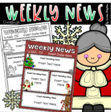 Weekly Newsletter Template Editable Christmas Holiday Winter Theme
