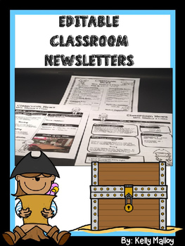 Weekly Newsletter Template Editable - Pirate Themed