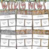 Weekly Newsletter Template Editable Rustic Farmhouse Shabby Chic Theme