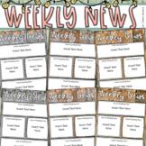 Weekly Newsletter Template Editable Rustic Farmhouse Shabb