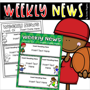 weekly newsletter template editable sports all star teamwork theme