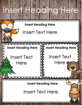 Weekly Newsletter Template Editable Woodland Animals Theme