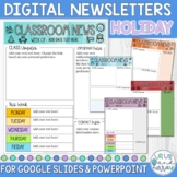 Weekly Newsletter Template Holiday Themed for Google Slide
