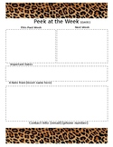 Weekly Newsletter Template LEOPARD PRINT