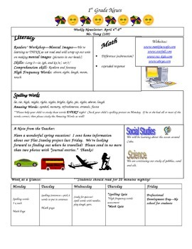 Weekly Newsletter Template / Sample