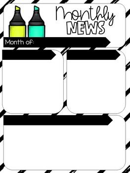 Weekly Newsletter Templates 18-19 School Year