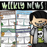 Weekly Newsletter Templates Editable All Year Round Parent Communication Bundle