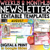 Weekly Newsletter Templates | Monthly Newsletter Classroom