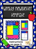 Weekly Newsletter Templates- Multiple Options