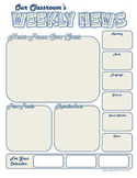 Weekly Newsletter and Back to School Newsletter Template