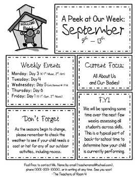 Weekly Newsletter and Monthly Calendar Mega Pack