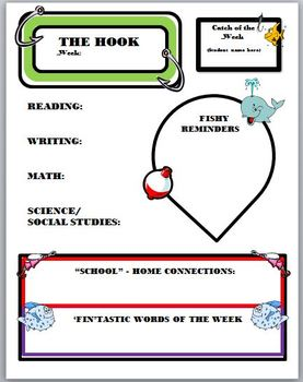 Weekly Newsletter with a Fish Theme