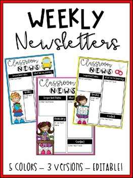 Weekly Newsletters - Editable!