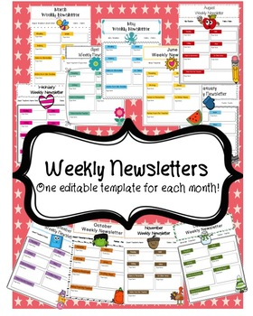 Weekly Newsletters: Monthly Themes {EDITABLE}