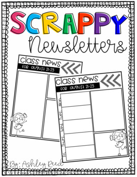 Weekly Newsletters {Scrappy, Editable, Ink Friendly!}