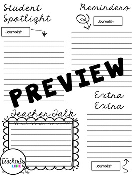 Weekly Newsletters - Student Authors