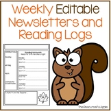 Weekly Reading Log and Editable Newsletter