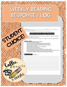 Weekly / Nightly Reading Log / Response Homework